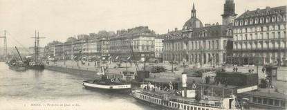 """CPA PANORAMIQUE FRANCE 76 """"Rouen, perspective des quais"""""""