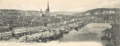 """CPA PANORAMIQUE FRANCE 76 """"Rouen, vue générale prise du pont transbordeur"""""""