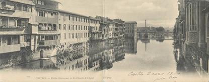"""CPA PANORAMIQUE FRANCE 81 """"Castres, vieilles maisons sur la rive gauche de l'Agoût"""""""