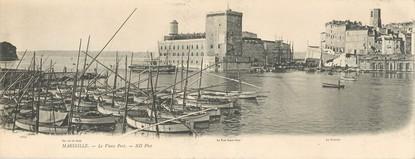 """CPA PANORAMIQUE FRANCE 13 """"Marseille, le vieux port"""""""