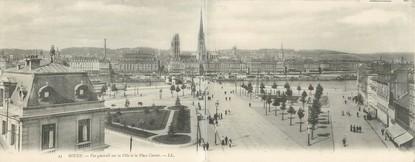 """CPA PANORAMIQUE FRANCE 76 """"Rouen, vue générale sur la ville et la place Carnot"""""""
