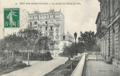 """CPA FRANCE 92 """"Issy Les Moulineaux, les jardins de l'hôtel de ville"""""""