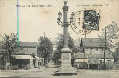 """CPA FRANCE 92 """"La Garenne Colombes, rue Voltaire et la Colonie"""""""