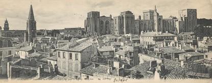 """CPA PANORAMIQUE FRANCE 84 """"Avignon, panorama du château des Papes"""""""