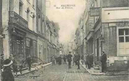 "CPA FRANCE 59 ""Maubeuge, rue de France"""