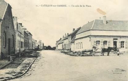 "CPA FRANCE 59 ""Catillon sur Sambre, un coin de la place"""