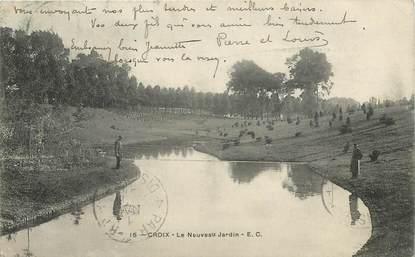 """CPA FRANCE 59 """"Croix, le nouveau jardin"""""""