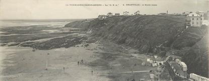 """CPA PANORAMIQUE FRANCE 50 """"Granville à marée basse"""""""