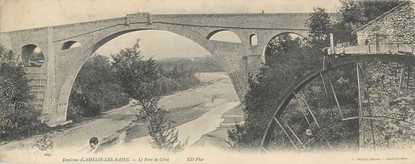 "CPA PANORAMIQUE FRANCE 66 ""Le pont de Céret"""