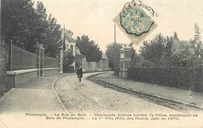"CPA FRANCE 59 ""Phalempin, la rue du Bois"""