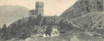 """CPA PANORAMIQUE FRANCE 31 """"Luchon, tour de Castelvieilh"""""""