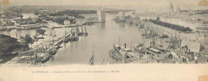 """CPA PANORAMIQUE FRANCE 17 """"La Rochelle, panorama du port"""""""