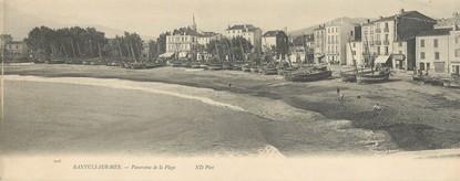 "CPA PANORAMIQUE FRANCE 66 ""Banyuls sur Mer, panorama de la plage"""