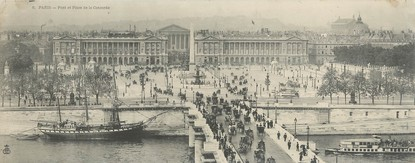 "CPA PANORAMIQUE FRANCE 75001 ""Paris, pont et place de la concorde"""