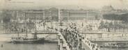 """75 Pari CPA PANORAMIQUE FRANCE 75001 """"Paris, pont et place de la concorde"""""""