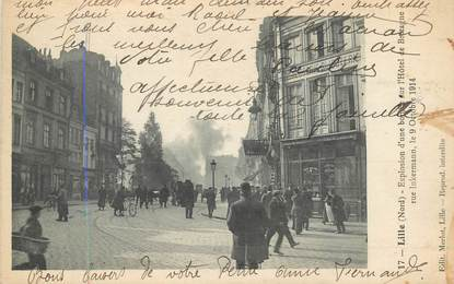 "CPA FRANCE 59 ""Lille, explosion d'une bombe"""