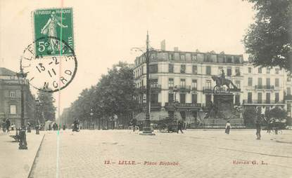 "CPA FRANCE 59 ""Lille, place Richebé"""