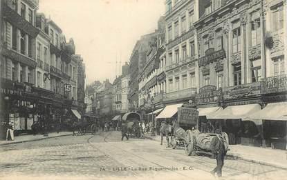"""CPA FRANCE 59 """"Lille, la rue Esquermoise"""""""
