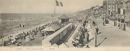 "CPA PANORAMIQUE FRANCE 14 ""Cabourg, la plage"""