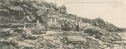 """CPA PANORAMIQUE FRANCE 35 """"Rotheneuf, vue générale des rochers sculptés"""""""
