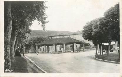 """CPSM FRANCE 09 """"La Bastide sur l'Hers, la Halle, carrefour des routes de Laroque"""""""
