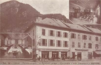"CPA FRANCE 74 ""Cluses, hôtel restaurant"""