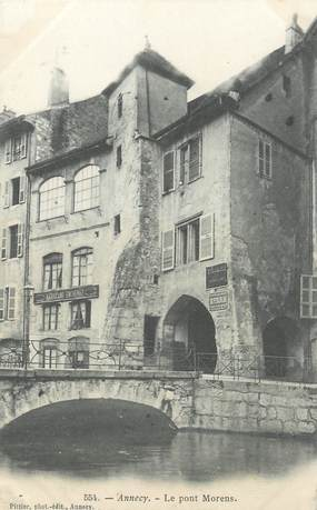 """CPA FRANCE 74 """"Annecy, le pont Morens"""""""