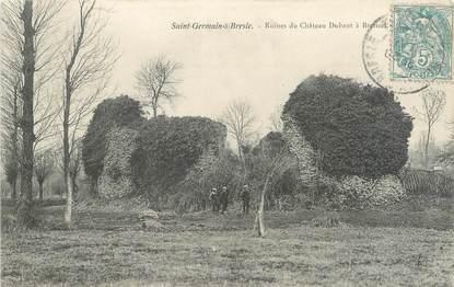 """CPA FRANCE 76 """"Saint Germain sur Bresle, ruines du château"""""""