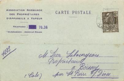 """CPA FRANCE 76 """"Rouen"""" / CARTE PUBLICITAIRE"""