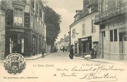 """CPA FRANCE 36 """"Le Blanc, la rue Saint Lazare"""""""