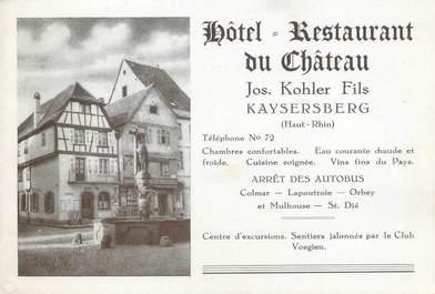 "CPSM FRANCE 68 ""Kaysersberg, hôtel restaurant du château"""