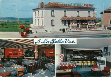 """CPSM FRANCE 55 """"Houdainville, hôtel bar restaurant à la Belle vue"""""""