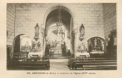 """CPA FRANCE 37 """"Artannes, intérieur de l'Eglise"""""""