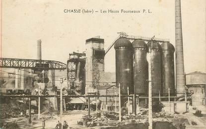 """CPA FRANCE 38 """"Chasse, les Hauts Fourneaux"""""""