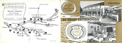 """CPSM FRANCE 37 """"Vouvray, au virage gastronomique"""" / RESTAURANT"""