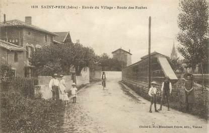 "CPA FRANCE 38 ""Saint Prim, rte des Roches"""
