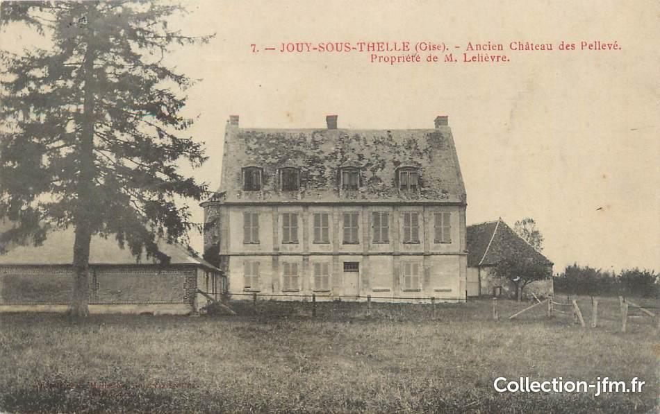 Cpa france 60 jouy sous thelle ancien ch teau des for Liste communes oise