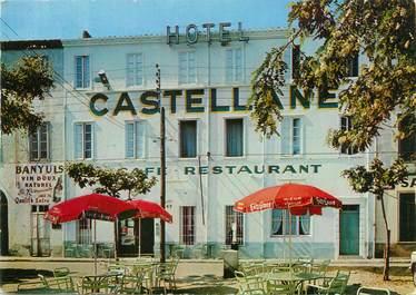 "CPSM FRANCE 66 ""Port Vendres, hôtel restaurant La Castellane """