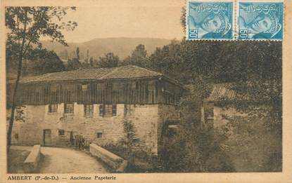 """CPA FRANCE 63 """" Ambert, ancien papeterie """""""