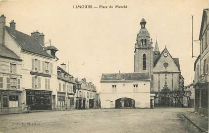 """CPA FRANCE 91 """"Limours, Place du Marché"""""""