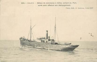 """CPA FRANCE 62 """"Calais, bateau de commerce"""""""