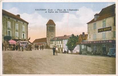 """CPA FRANCE 46 """" Gourdon, place du 4 septembre """""""