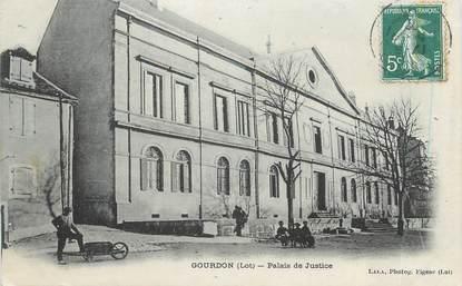 """CPA FRANCE 46 """" Gourdon, palais de justice """""""