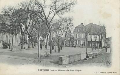 """CPA FRANCE 46 """" Gourdon, allée de la République """""""