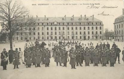 """CPA FRANCE 22 """" Guingamp, la caserne du 48° de Ligue """""""