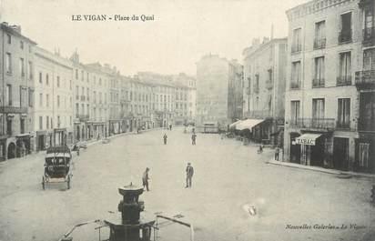 """CPA FRANCE 30 """" Le Vigan, place du Quai """""""