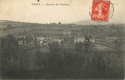 """CPA FRANCE 71 """"Trivy Chandon, hameau de Chandon"""""""