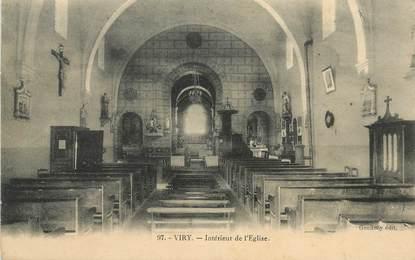 """CPA FRANCE 71 """"Viry, intérieur de l'Eglise"""""""