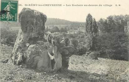 """CPA FRANCE 78 """"Saint Rémy Les Chevreuse, les rochers au dessus du village"""""""