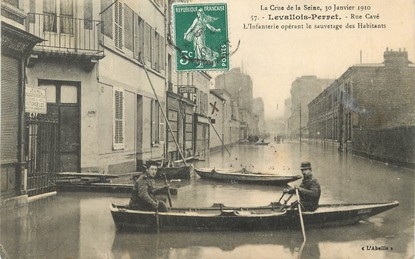 "/ CPA FRANCE  92 ""Levallois Perret"" / INONDATION 1910"